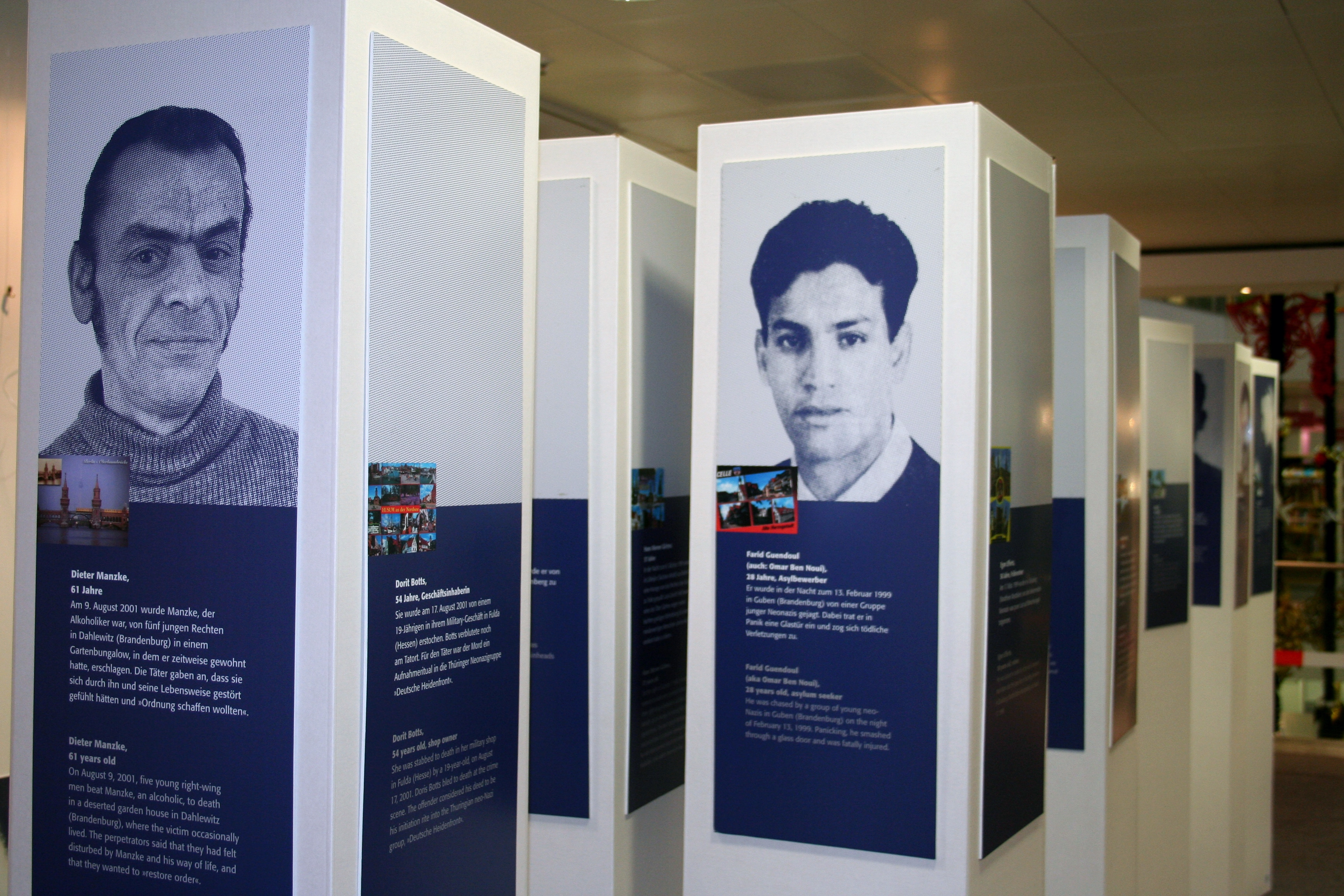 Momentaufnahme Ausstellung Opfer rechter Gewalt