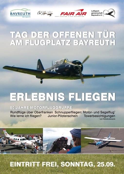 Plakat Erlebnis Fliegen
