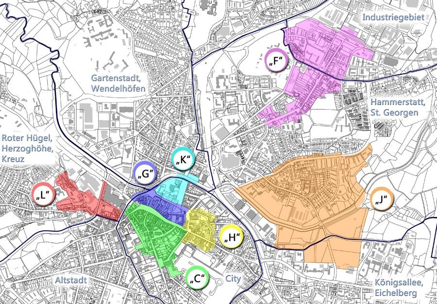 Übersichtsplan Sanierungsgebiete 2016