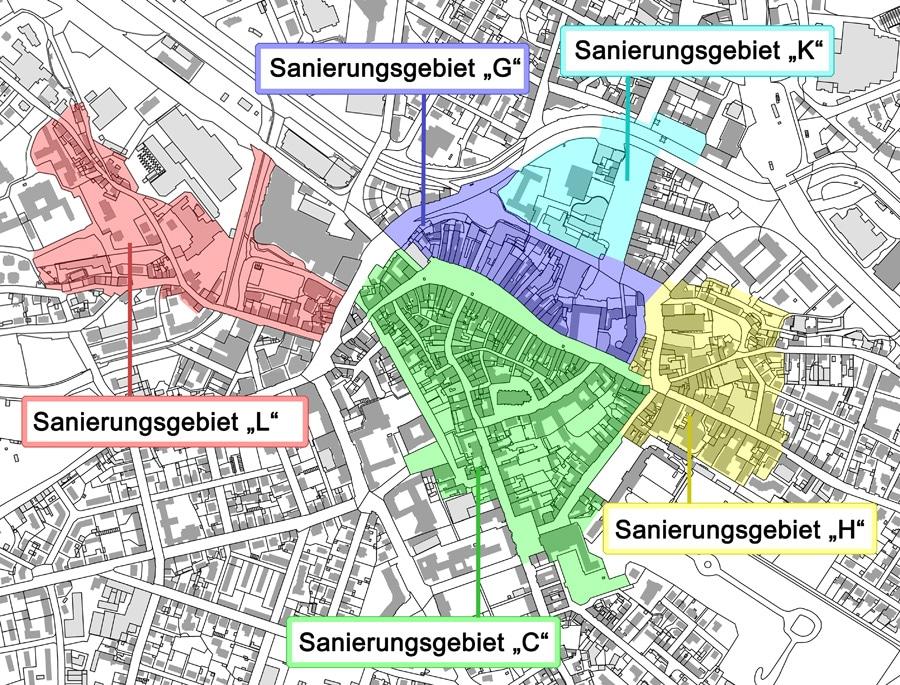 Sanierungsgebiete Innenstadt 2016