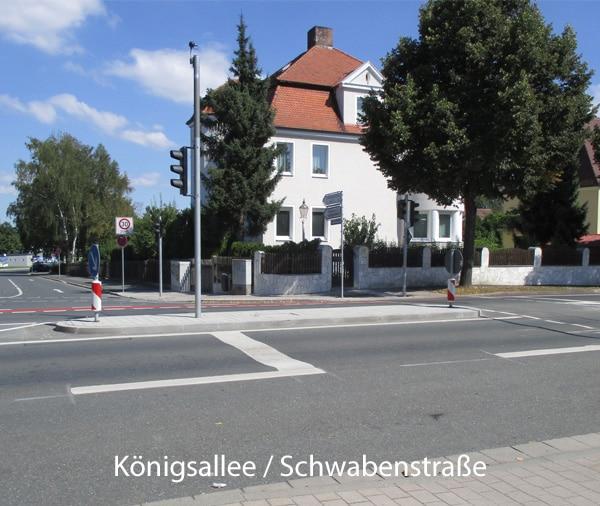 Königsallee/ Schwabenstraße