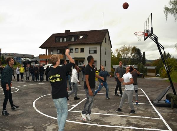 Mobile Basketballanlage