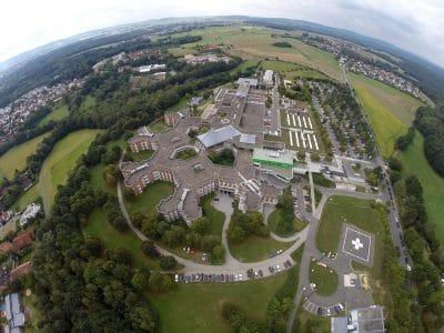Das Bayreuther Klinikum von oben