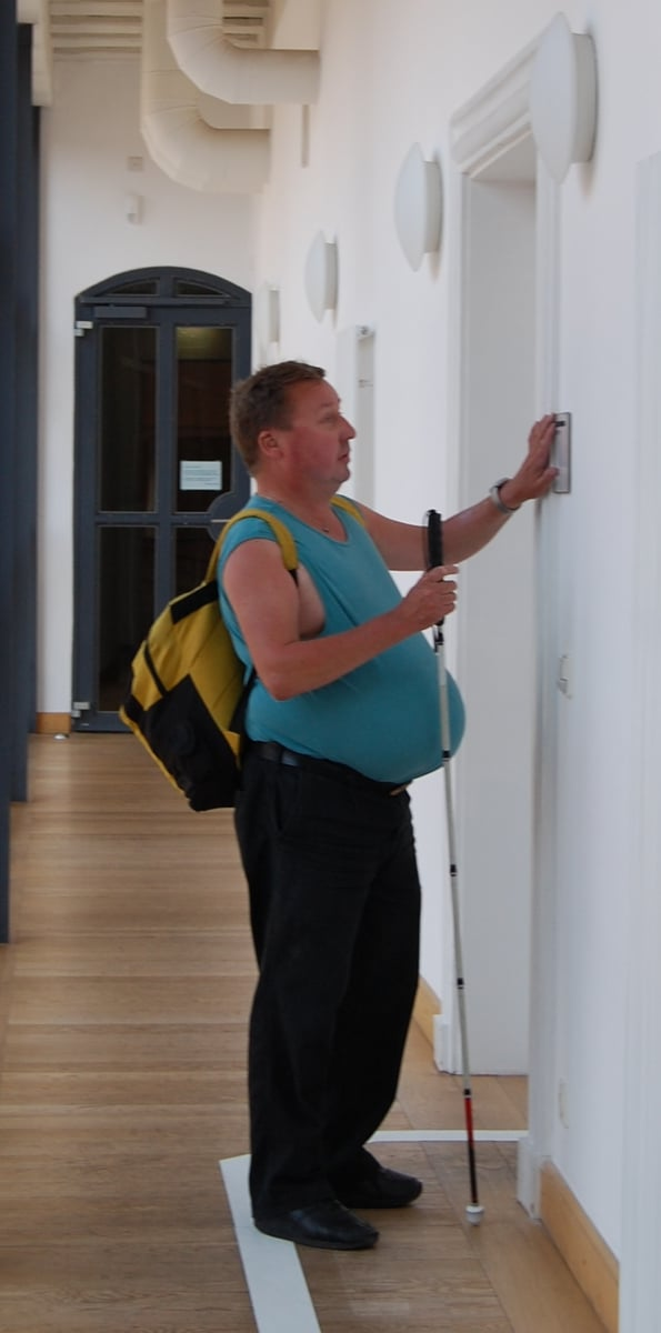 Blindenleitsystem im Kunstmuseum