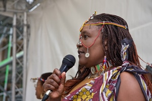 Sängerin beim Afro-Karibik-Festival