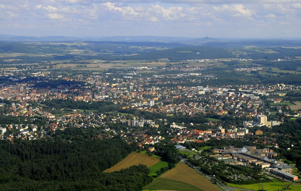 Luftbild von Bayreuth