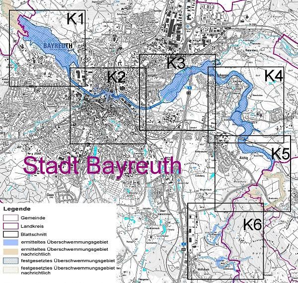 Übersichtskarte Bayreuth
