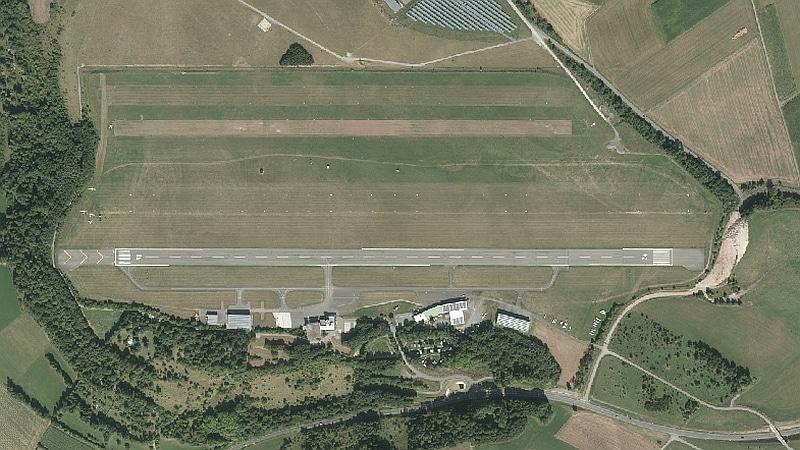 Flugplatz von oben