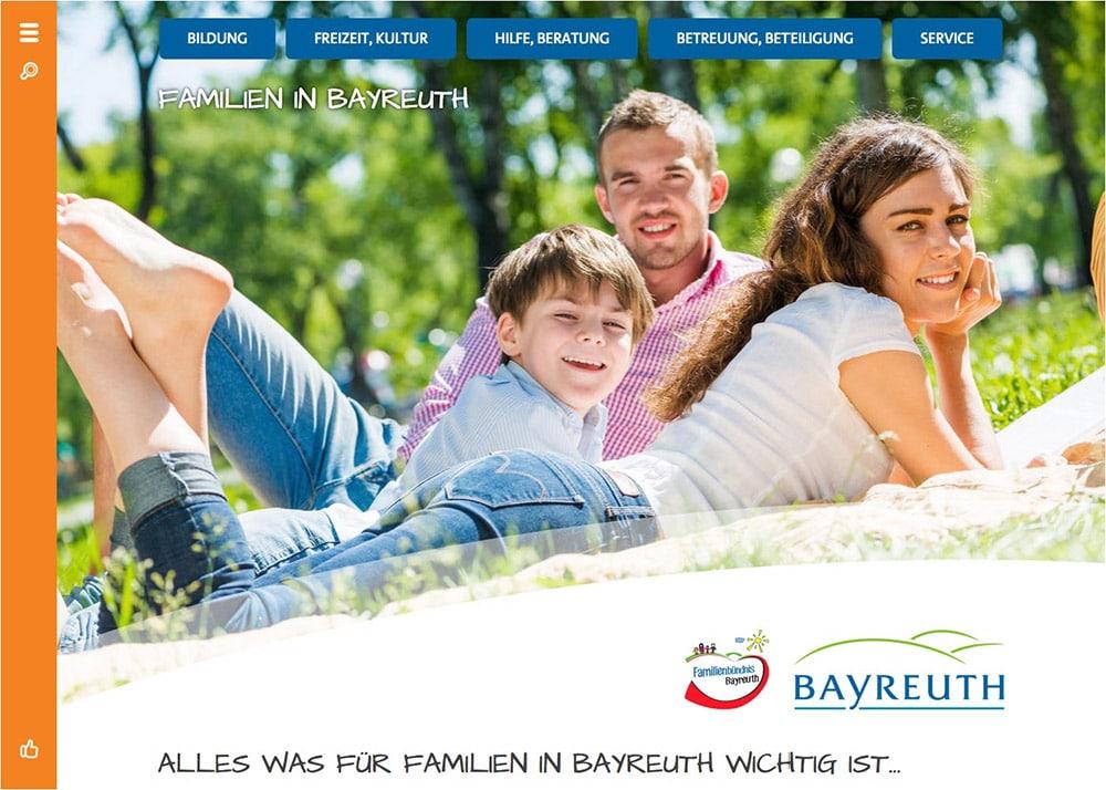 Screenshot Familien-in-Bayreuth.de