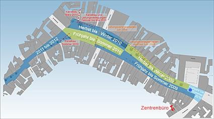 Bauzeitenplan Maximilianstraße