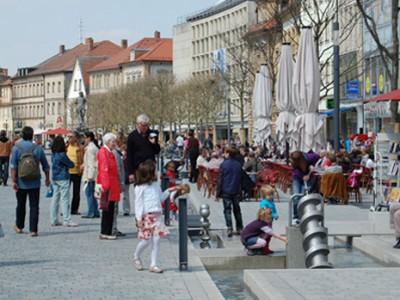 Blick auf den Bayreuther Marktplatz