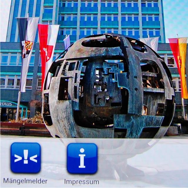 Screenshot Mängelmelder-App