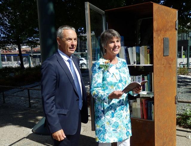 Bücherschrank in Annecy