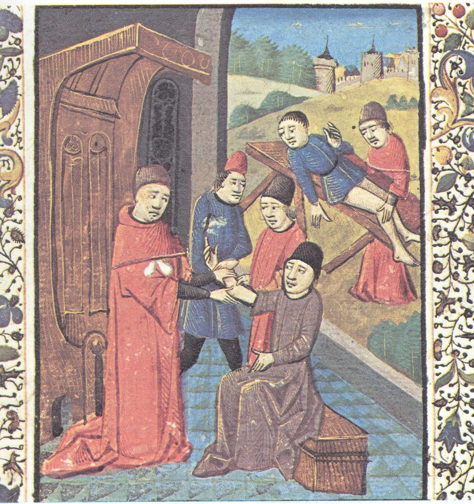 Alte Darstellung von Klostermedizin