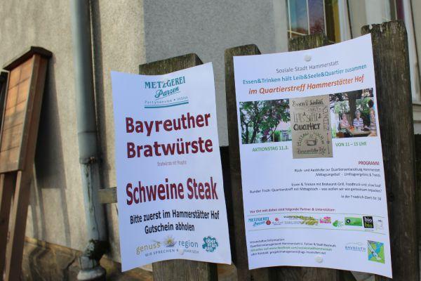 Für das leibliche Wohl ist auf dem Aktionstag in der Sozialen Stadt Hammerstatt gesorgt