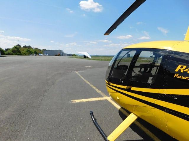 Gelber Hubschrauber