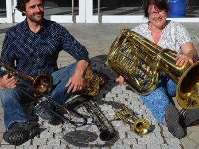 Mitglieder des Blasorchesters