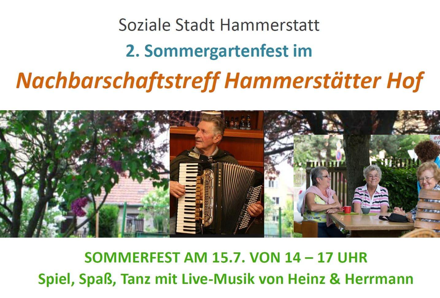 Plakatkopf Sommergartenfest