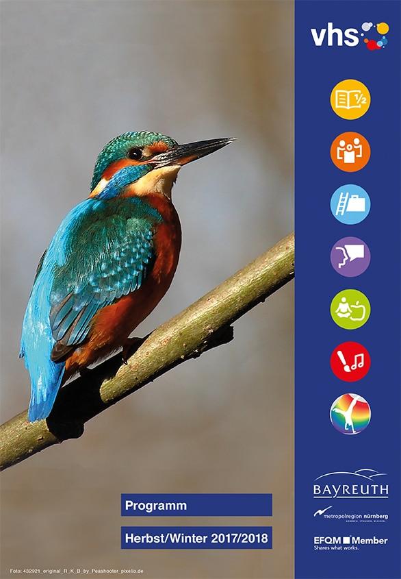 vhs-Heft September 2017 Kolibri auf Ast