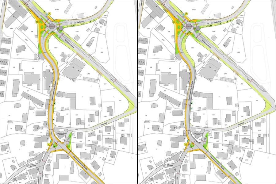 Planungsvarianten Oberkonnersreuther Straße