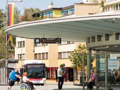 Zentrale Omnibus-Haltestelle in Bayreuth