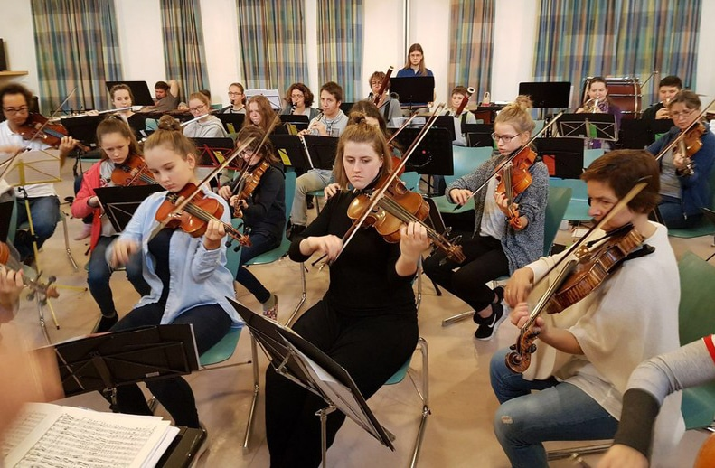 Sinfonieorchester der städtischen Musikschule Bayreuth.