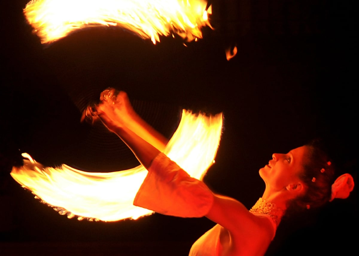 Feuer-Artistin