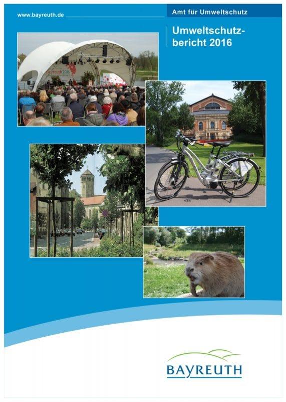 Titelseite Umweltschutzbericht 2016