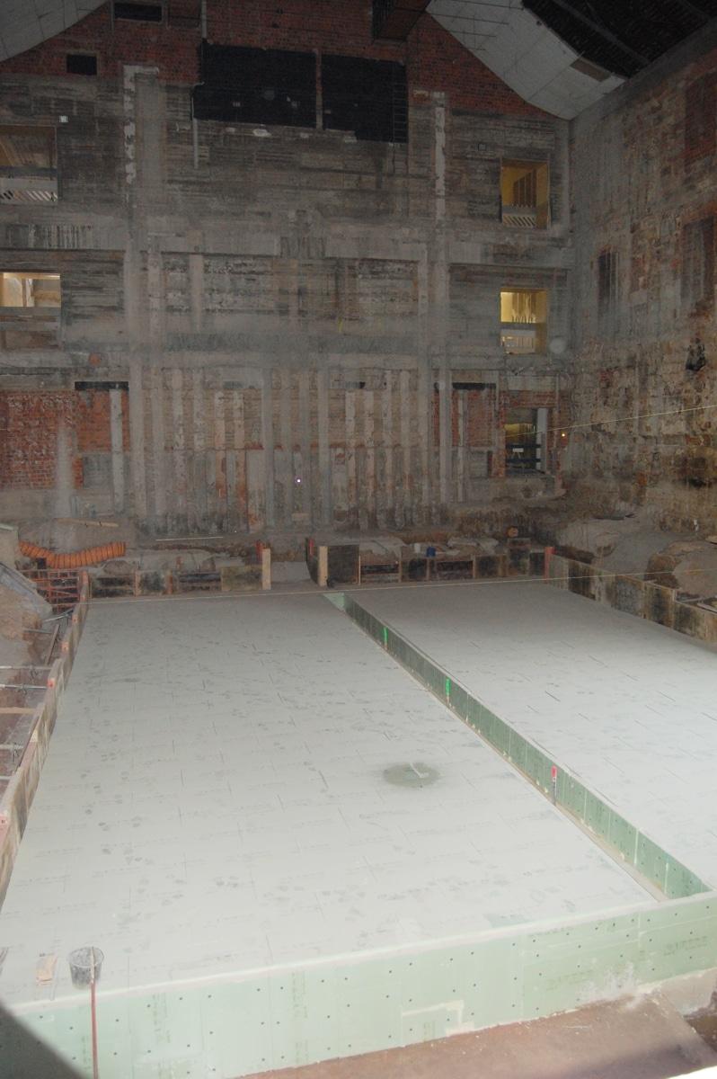 Eindruck von der Baustelle Stadthalle