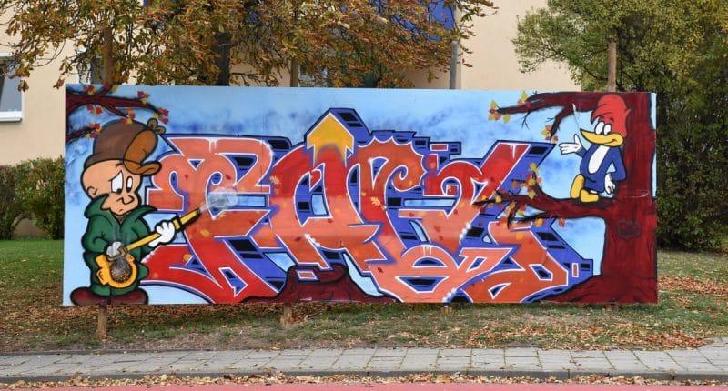 Graffiti am Freiheitsplatz