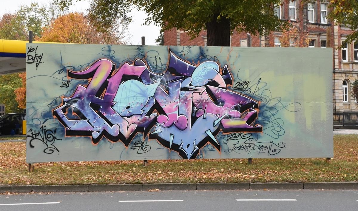Graffiti in der Königsallee
