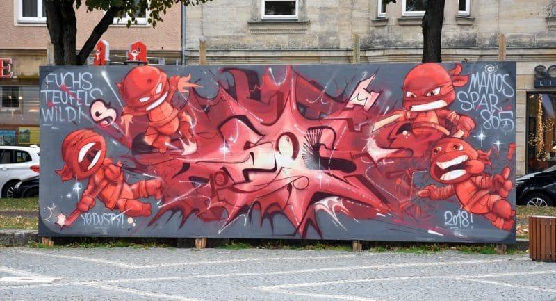 Graffiti am Luitpoldplatz