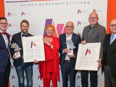 Preisverleihung zum diesjährigen Rainer-Markgraf-Preis. Bild: Rainer-Markgraf-Stiftung