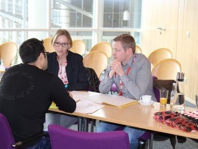 Intensive Vorstellungsgespräche, Quelle: Stadt Bayreuth