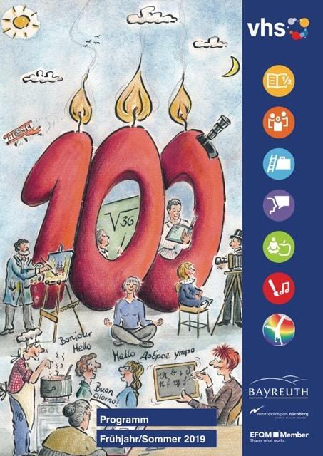 Das Cover des vhs-Programms Frühjahr 2019