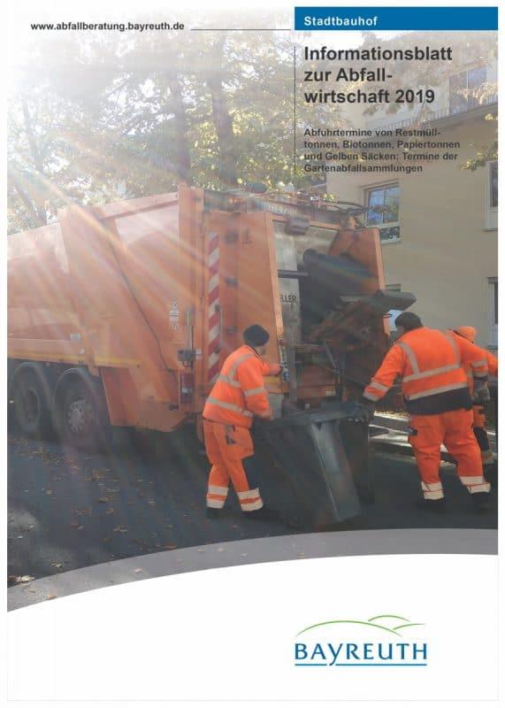 Titelseite des Infoblatts zur Abfallwirtschaft-2019
