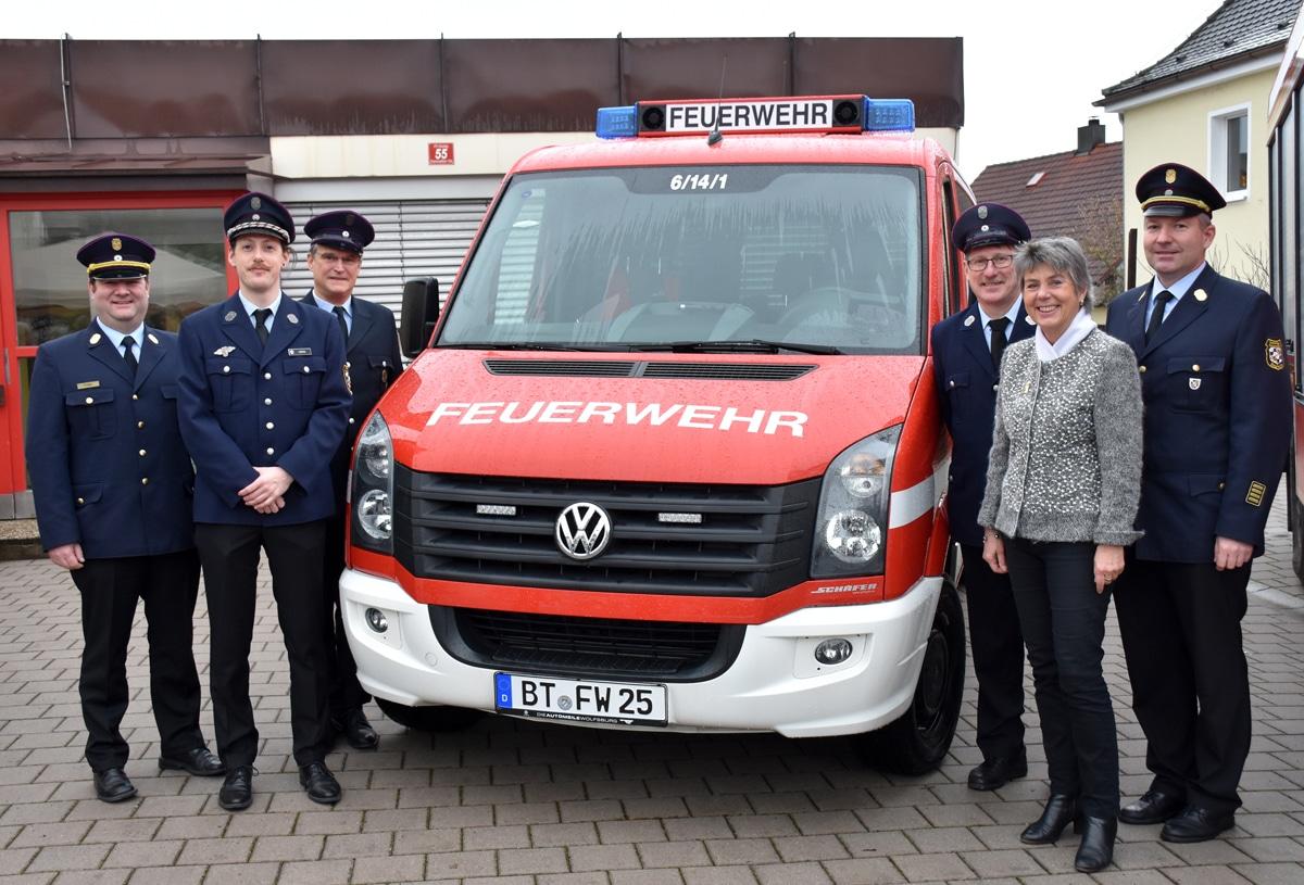 Die Abteilung Aichig der Freiwilligen Feuerwehr Bayreuth hat einen neuen Mannschaftstransportwagen bekommen. | Foto: Andreas Türk