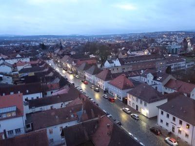 Blick vom Turm der Ordenskirche über St. Georgen