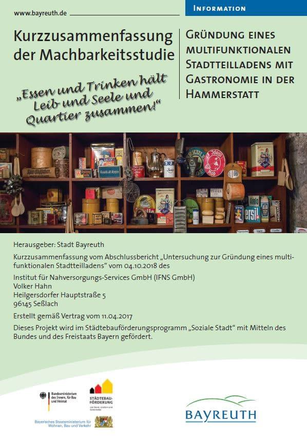 Deckblatt Bericht Stadtteilladen Hammerstatt