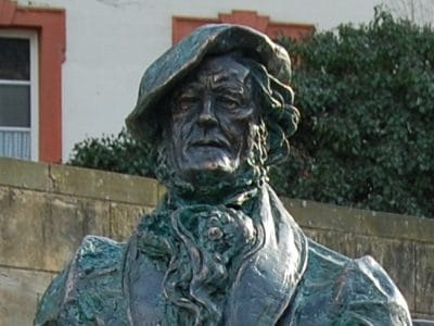 Nahaufnahme der Richard-Wagner-Skulptur