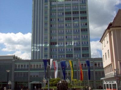 Ansicht des Rathauses