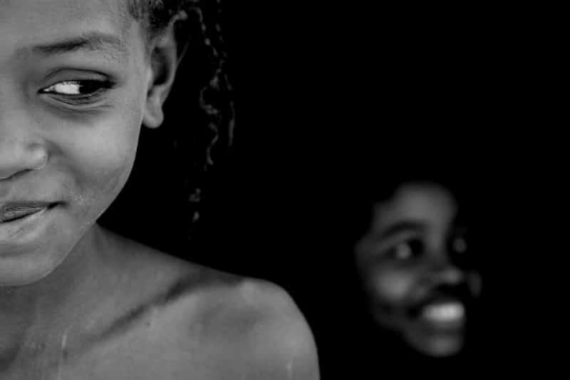 Schwarz-Weiß-Porträtfotot