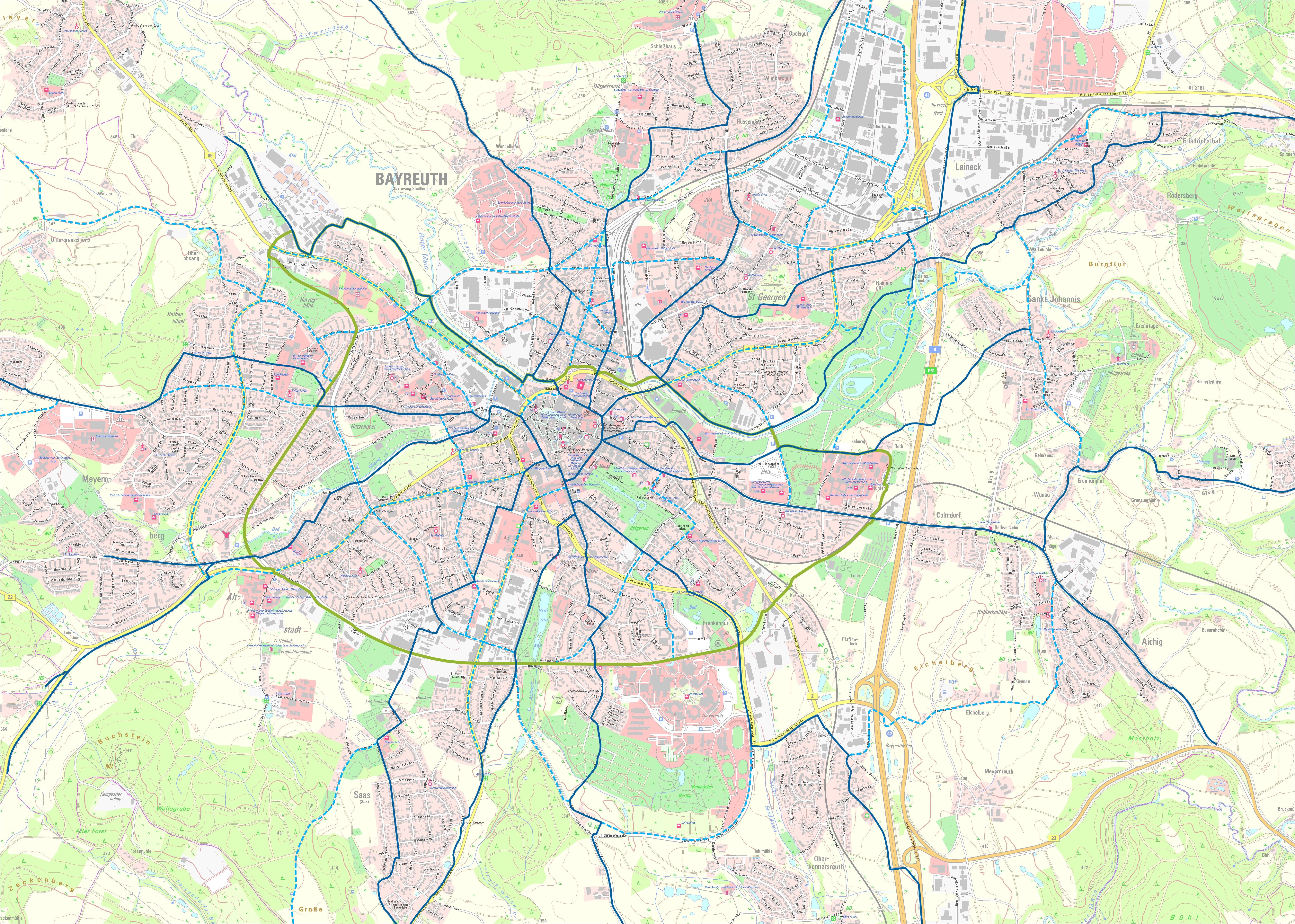 Karte_Radverkehrsnetz_Bayreuth