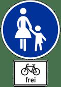 Verkehrszeichen_Gehweg_Radfahrer_frei