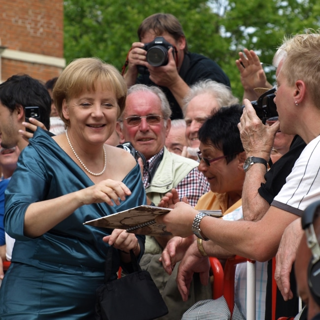Angela Merkel am Roten Teppich