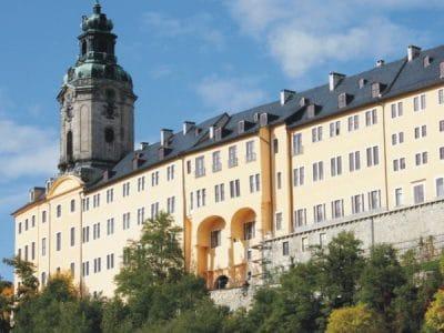Blick auf die Burg in Rudolstadt