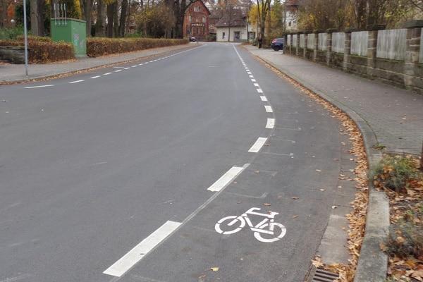 Bayreuth_Schutzstreifen_Radverkehr