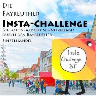 Bayreuth im Hintergrund mit Logo Insta-Challenge davor