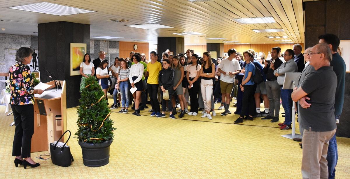 """Empfang für die Teilnehmerinnen und Teilnehmer des """"Europäischen Treffens"""" im Rathaus."""