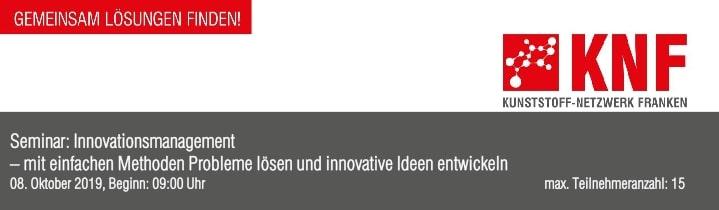 Innovationsmanagement - Veranstaltung des KNF